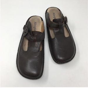 Alegria Classic Brown Leather Clogs 40